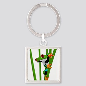 Cute frog on grass Keychains